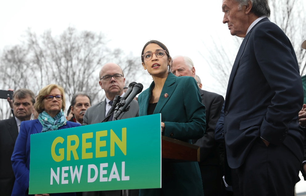 AOC Green New Deal Presser