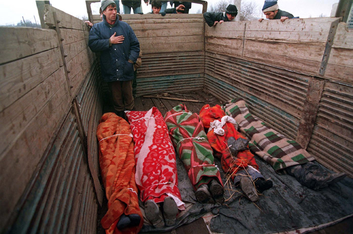 Dead Chechens transported on a Truck January 1995 Mikhail Evstafiev