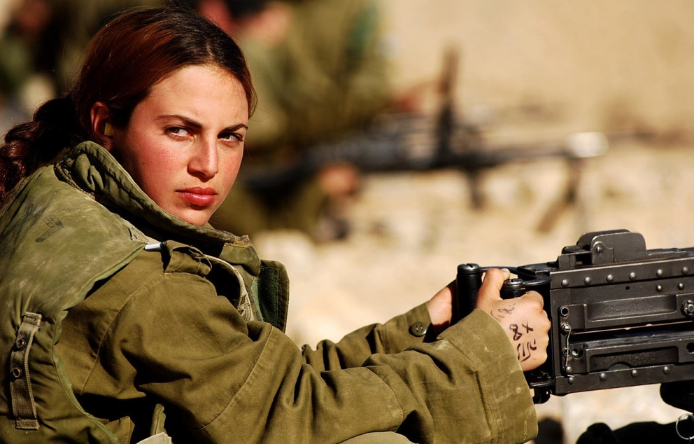 Israel Defense Forces Female Soldier at the Shooting Range