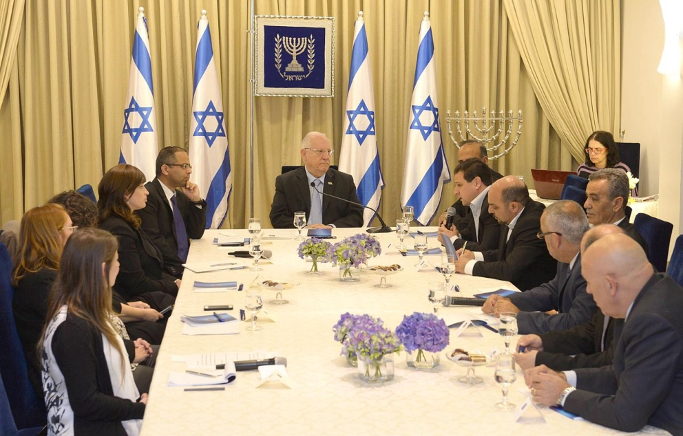 Reuven Rivlin opened the consultations after the 2015 elections with the Joint List 2015 Mark Neyman
